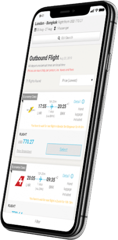 flight search mobile